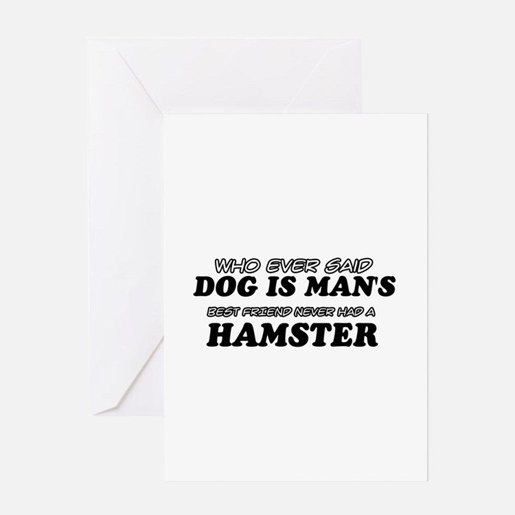 Hamster Designs Greeting Card