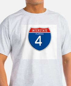 Interstate 4 - FL Ash Grey T-Shirt