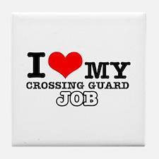 Crossing Guard Job Designs Tile Coaster