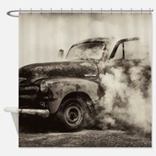 Burnout Pit Truck Shower Curtain