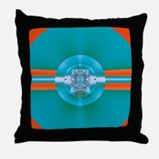 Psychedelic Green Throw Pillow