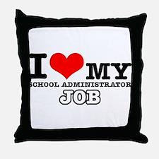 School Administrator Job Designs Throw Pillow