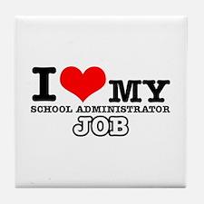 School Administrator Job Designs Tile Coaster