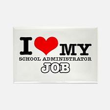 School Administrator Job Designs Rectangle Magnet