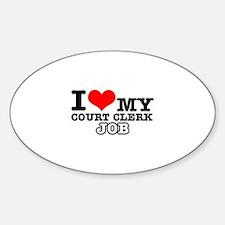 Court Clerk Job Designs Sticker (Oval)