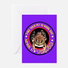 TAKE YOUR TOAD TO WORK DAY Greeting Cards (Package