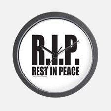 R.I.P. REST IN PEACE Wall Clock