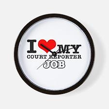 Court Reporter Job Designs Wall Clock