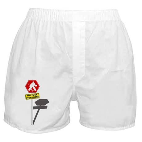 The Puck Stops Here Boxer Shorts