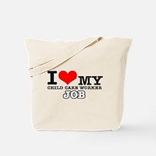 Child Care Worker Job Designs Tote Bag