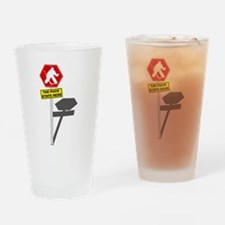 The Puck Stops Here Drinking Glass
