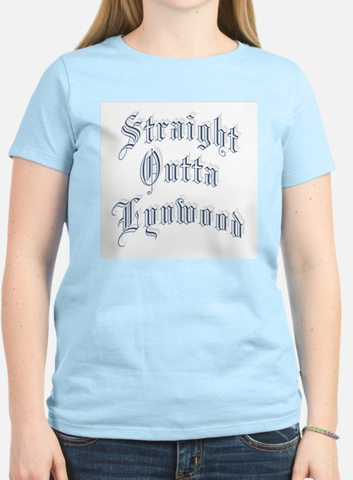 Straight Outta Lynwood  Women's Pink T-Shirt