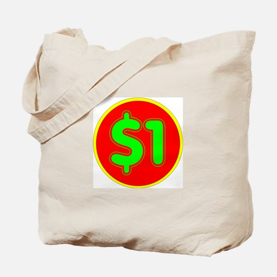 PRICE TAG LABEL - $1 - ONE DOLLAR Tote Bag