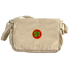 PRICE TAG LABEL - $1 - ONE DOLLAR Messenger Bag