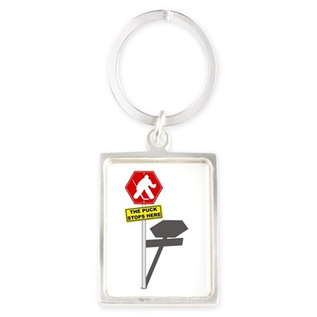 The Puck Stops Here Keychains