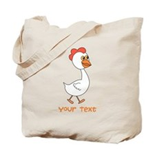 Chicken and Text. Tote Bag