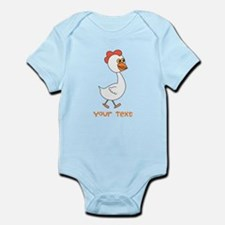 Chicken and Text. Body Suit