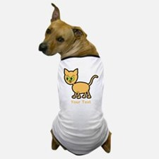 Green Eyed Ginger Cat and Text. Dog T-Shirt