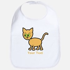 Green Eyed Ginger Cat and Text. Bib
