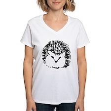 Cartoon Hedgehog Ash Grey T-Shirt