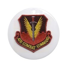 Funny Aircraft commander Ornament (Round)