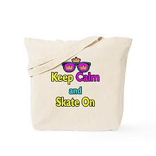 Crown Sunglasses Keep Calm And Skate On Tote Bag