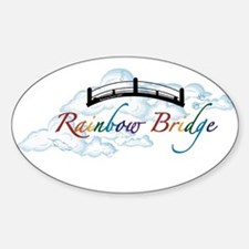 Cute Rainbow bridge white cat Decal