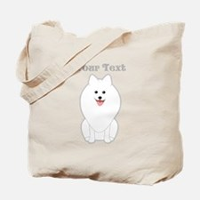 Cute Dog with Text. Spitz. Tote Bag