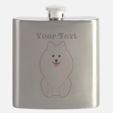 Cute Dog with Text. Spitz. Flask