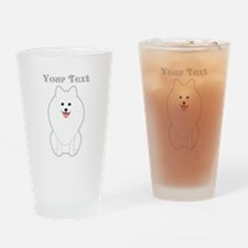 Cute Dog with Text. Spitz. Drinking Glass