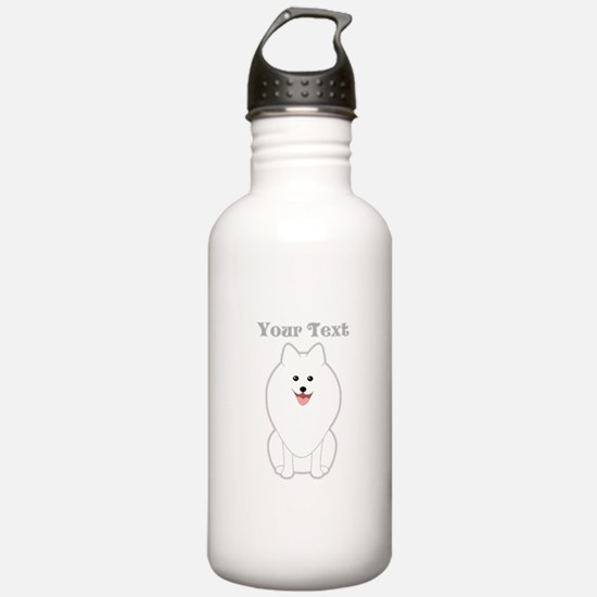 Cute Dog with Text. Spitz. Water Bottle