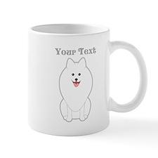 Cute Dog with Text. Spitz. Mug