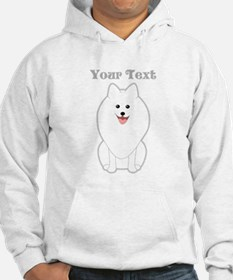 Cute Dog with Text. Spitz. Hoodie