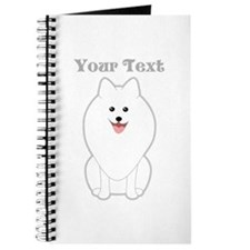Cute Dog with Text. Spitz. Journal