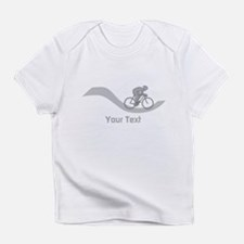 Cyclist in Gray. Custom Text. Infant T-Shirt