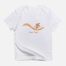 Cyclist in Orange. Custom Text. Infant T-Shirt