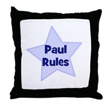 Paul Rules Throw Pillow