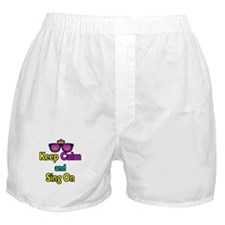Crown Sunglasses Keep Calm And Sing On Boxer Short