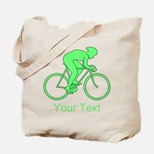 Cycling Design and Text. Green. Tote Bag