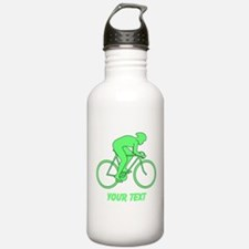 Cycling Design and Text. Green. Water Bottle