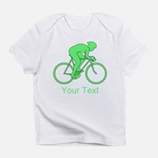Cycling Design and Text. Green. Infant T-Shirt