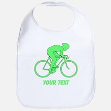 Cycling Design and Text. Green. Bib