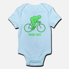 Cycling Design and Text. Green. Body Suit