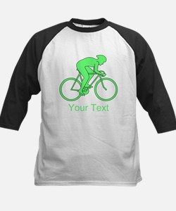 Cycling Design and Text. Green. Baseball Jersey