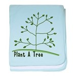Plant A Tree baby blanket