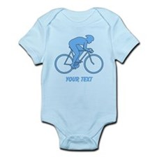 Blue Cycling Design and Text. Body Suit