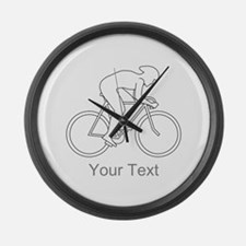 Cycling Design and Text. Large Wall Clock