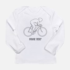 Cycling Design and Text. Long Sleeve T-Shirt