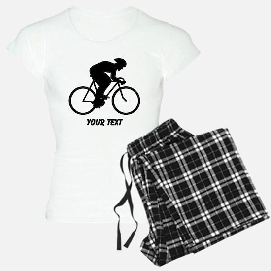 Cyclist Silhouette with Text. Pajamas