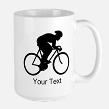 Cyclist Silhouette with Text. Mug